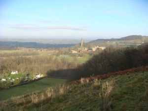 Views from the ridge towards Abberley Tower