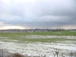 Wintery views towards Kirkham