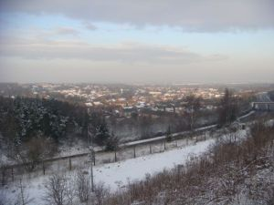 Snowy views over Telford