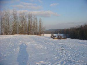 Cockshutt hill in the snow