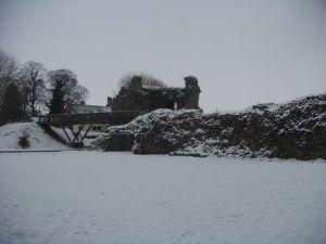 Whittington Castle remains