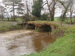 Bridge with no sides near the Wem caches