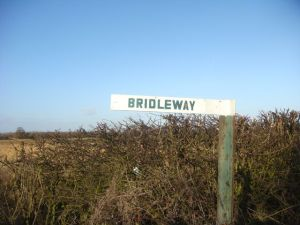Unusual bridleway sign
