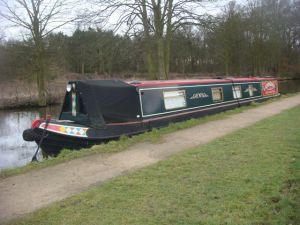 Beautiful canal boat at Fradley Junction