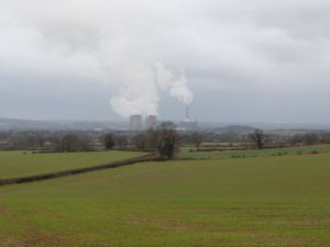 Rugeley power station in the distance