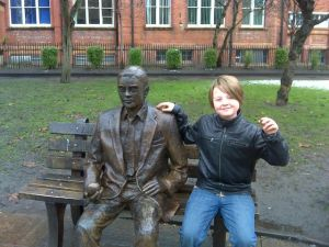 Isaac sat next to Alan Turing at Manchester University