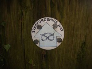 The first part of the walk follows the Staffordshire Way
