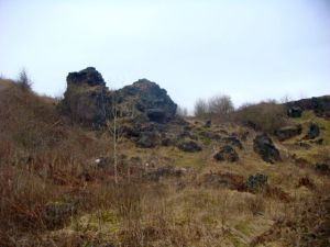 Really strange looking black rocks near one of the south Stoke caches