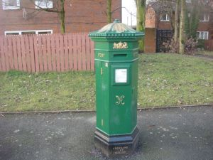 Green Victorian Post Box