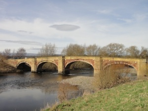 Old bridge over the River Dee at Bangor