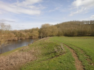 Walking along the banks of the River Dee