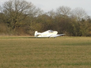 The plane that had just landed