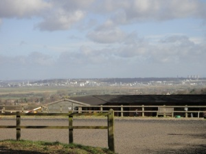 Views towards the Runcorn refineries from near one of the caches