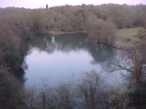 View over the lake at Leasowes Park
