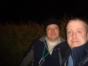 Me with Allun from the Shropshire Seekers at the bonus cache