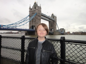 Isaac at Tower Bridge