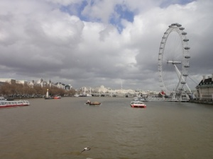View down the Thames on the way to the London Eye