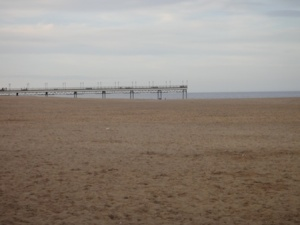 Skegness pier and the North Sea