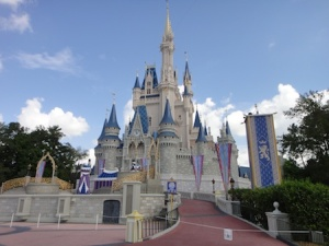 The must have shot of Cindarella's Castle at Disney's Magic Kingdom
