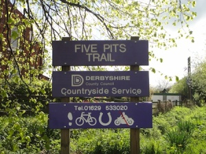 The Five Pits Trail - part of our walk around the Chesterfield caches