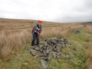 Isaac looks for one of the moorland caches
