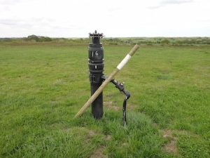 Vents from an underground landfill site - looks a bit like an oil well!