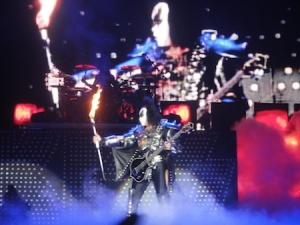 Gene Simmons about to do his firebreathing
