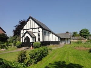The beautiful methodist church in Chirk