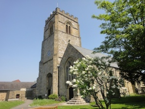 Traditional church in Chirk town centre