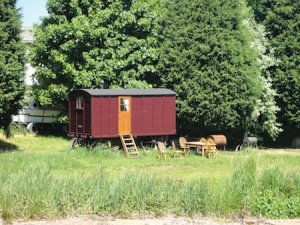 Lovely old traditional caravan by the canal