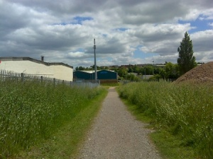 On the way to my DNF at the Cannock end of the old canal. Not the prettiest of locations, but it's not supposed to be.