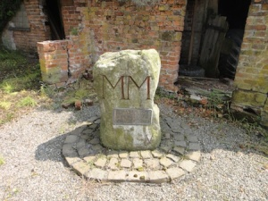 Weston Jones Millennium Stone, right outside an old smithy