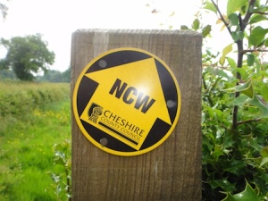 North Cheshire Way? A sign right by one of the Skeg to Ness caches