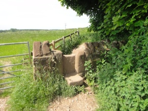Lovely old stile on the way to a cache