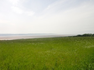 Looking from GZ towards the Dee Estuary, Irish Sea and Wales (middle left of picture)