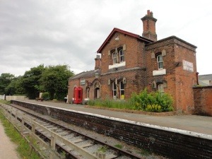 A preserved railway station now part of the Wirral Country Park