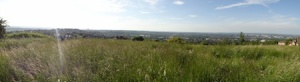 Panorama looking out over Dudley and Wolverhampton from near the county high point