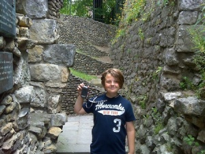 At a virtual cache by the old Roman town walls