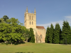 The stunning Pershore Abbey. A very big church for such a small town.