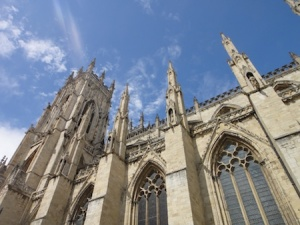 Looking up at the MASSIVE York Minster