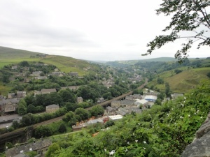 Looking down into the valley towards Littleborough