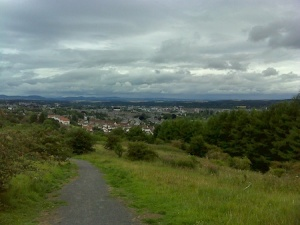 Looking down to Perth from Picnic Hill