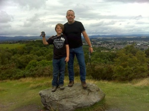 Us at an Earthcache on a hill overlooking Perth