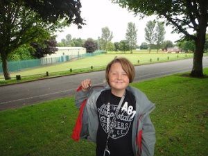 Isaac with a cache near to Stoke On Trent