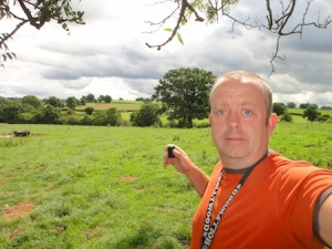 Me with one of the caches in Whitchurch