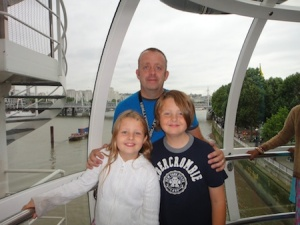 Us on the London Eye