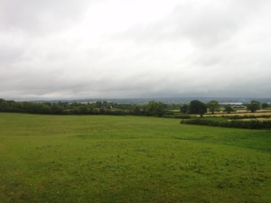 Very wet and cloudy views to the south from one of the caches