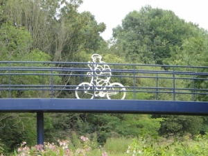 Love this public art over the River Trent on the Shep's Walk