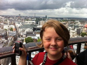 At the very top of St Paul's Cathedral at a virtual cache