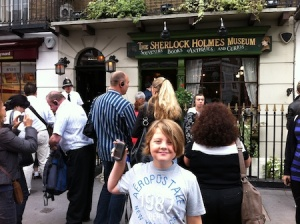 At a Sherlock Holmes themed virtual cache near to where we stayed